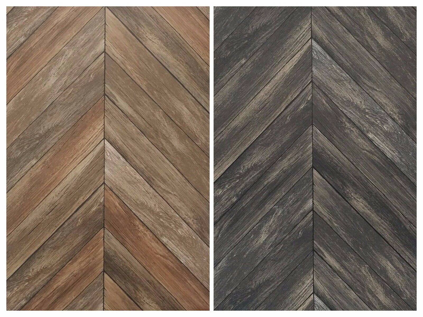Details About Chevron Rustic Wood Plank Parisian Gray Brown Mid