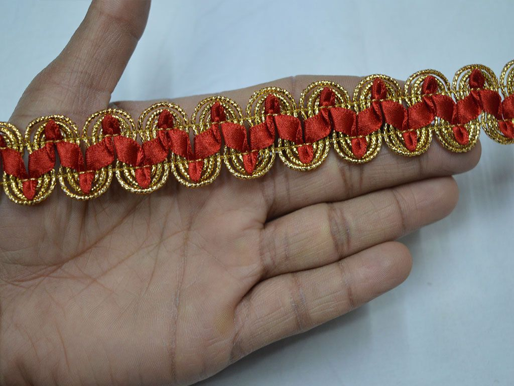 Beaded Curtain Accessory Fringe Ribbon Trim Indian Crafting Sewing Lace By 1 Yd