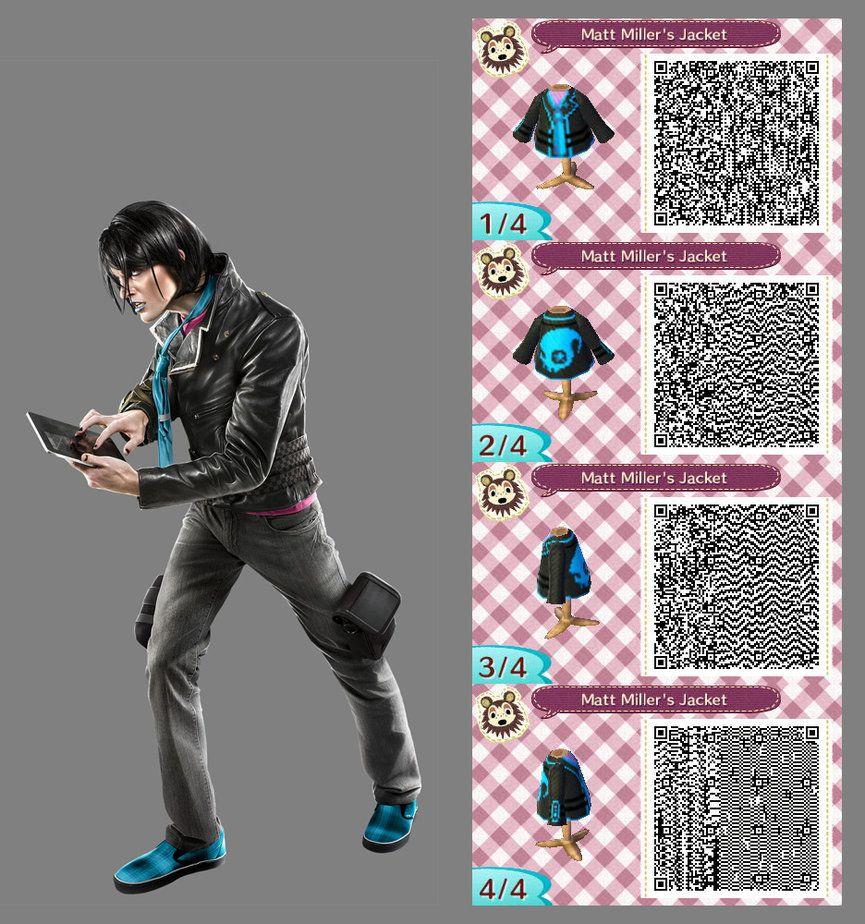Leather jacket qr code new leaf - Animal Crossing New Leaf Matt Miller S Jacket By Coffeetalks Black Leather Jacketsqr Codesanimal