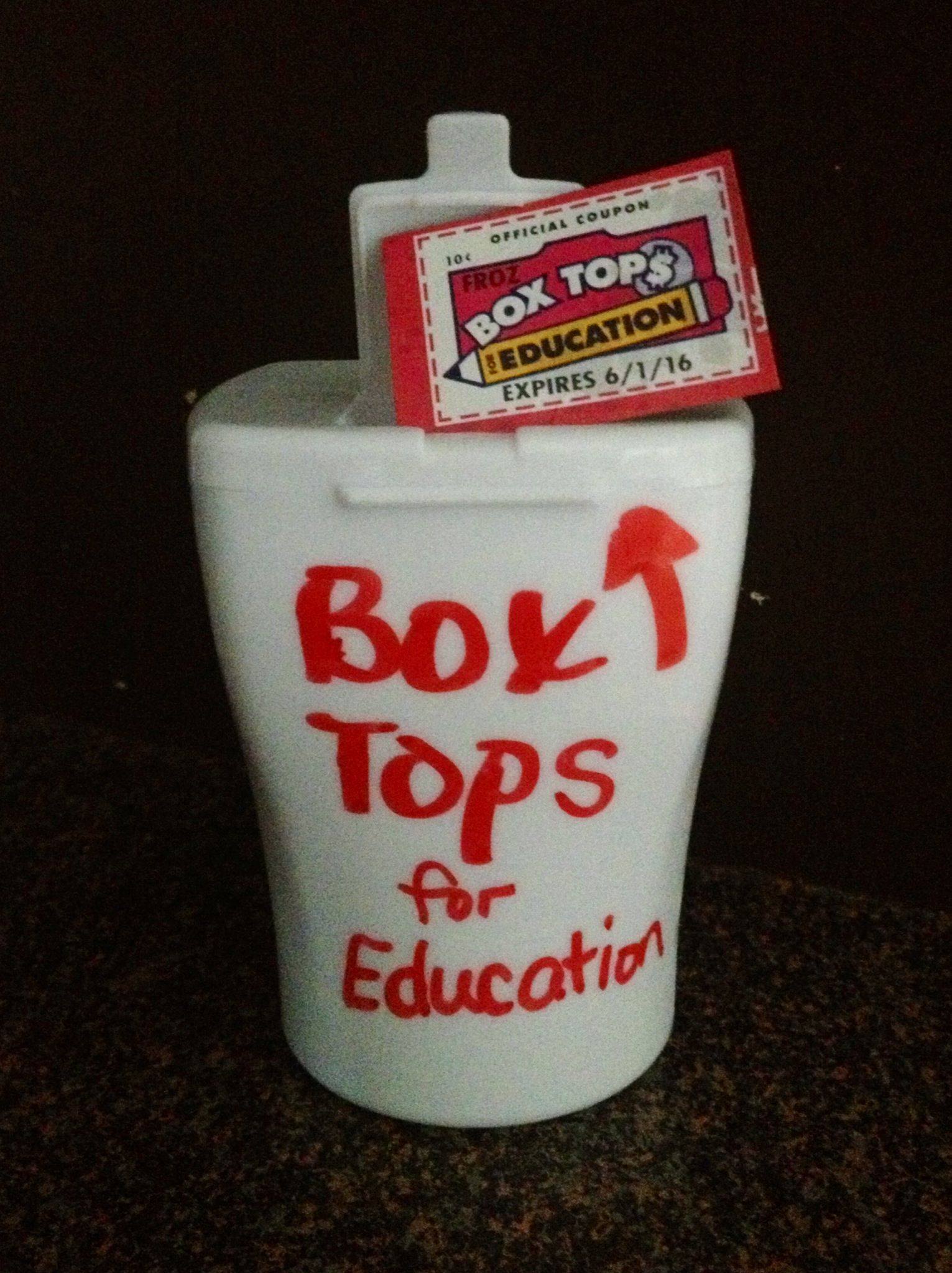 I Made A Box Tops Collection Container From An Empty Ice