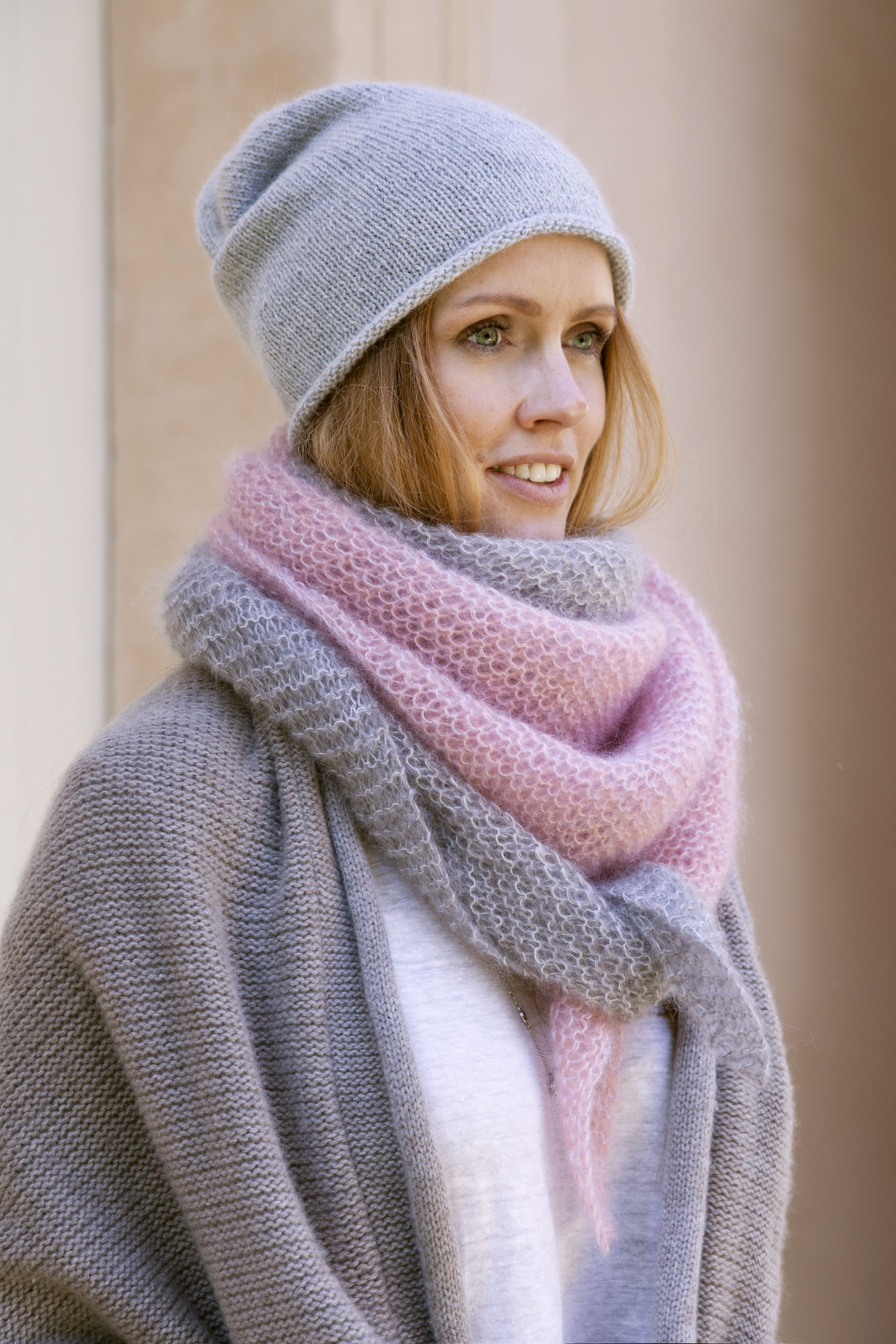 SILKYCLOUD Mohair Scarf || Pattern and Knit Kit by KNIT KNIT Berlin ...