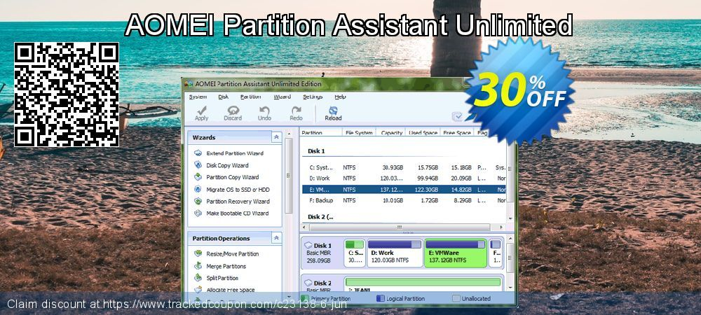 30 Off Aomei Partition Assistant Unlimited Coupon On Back To