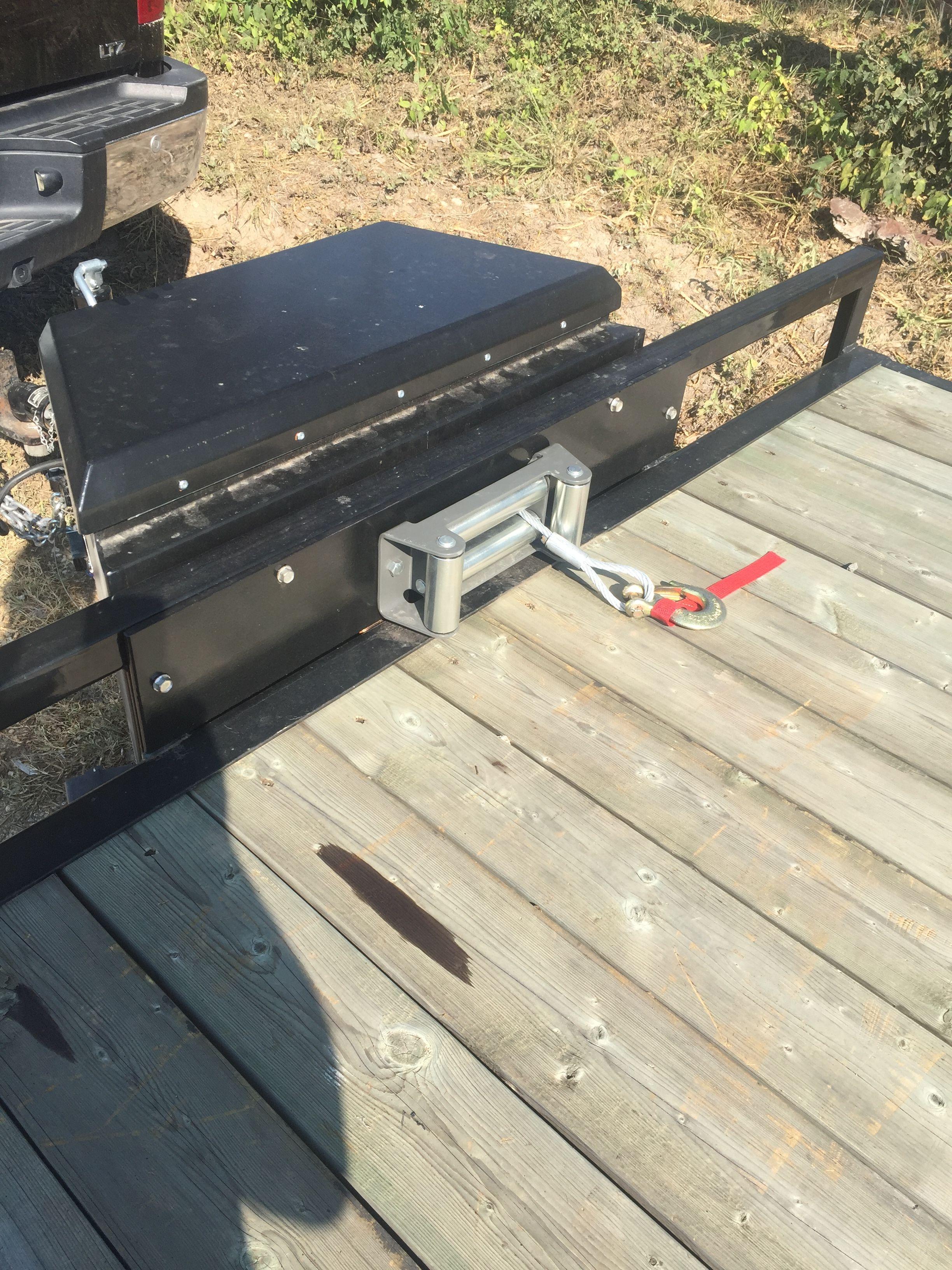 Winch tool box | Garage ideas | Pinterest | Box, Utility trailer and ...
