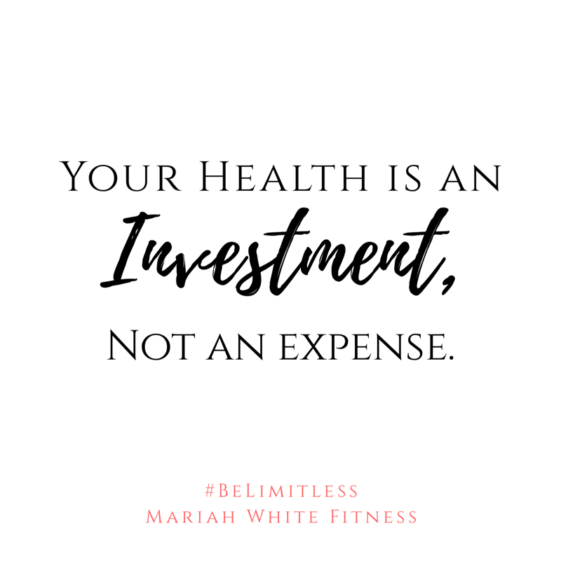 When you treat your health as an investment, you see the