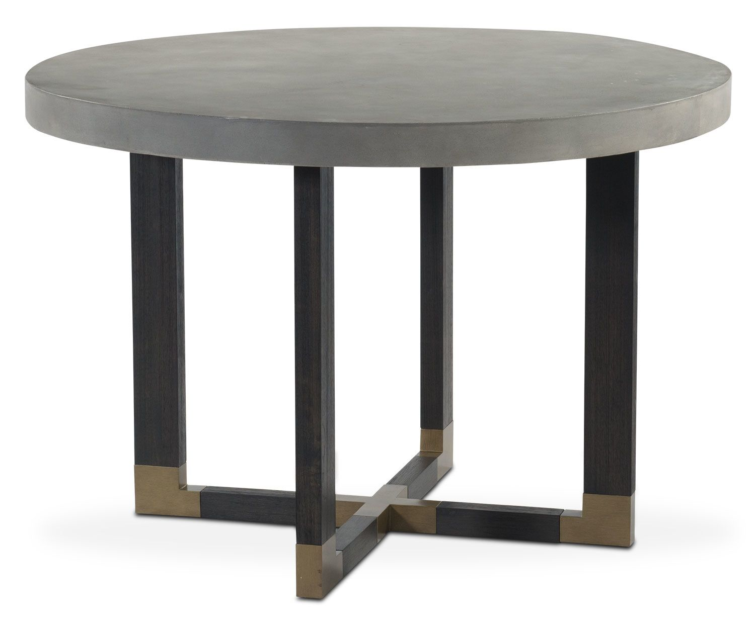 Dining Room Furniture Malibu Round Counter Height Concrete Top Table Umber Concrete Top Dining Table Counter Height Dining Table Metal Dining Table