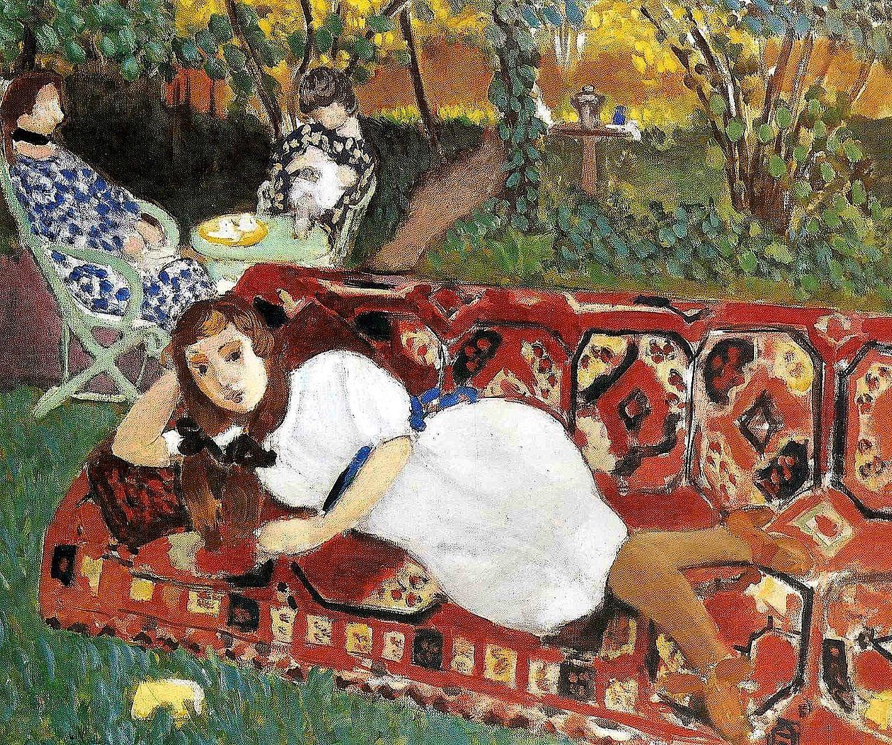 Henri Matisse - Young Women in the Garden | Henri Matisse ...