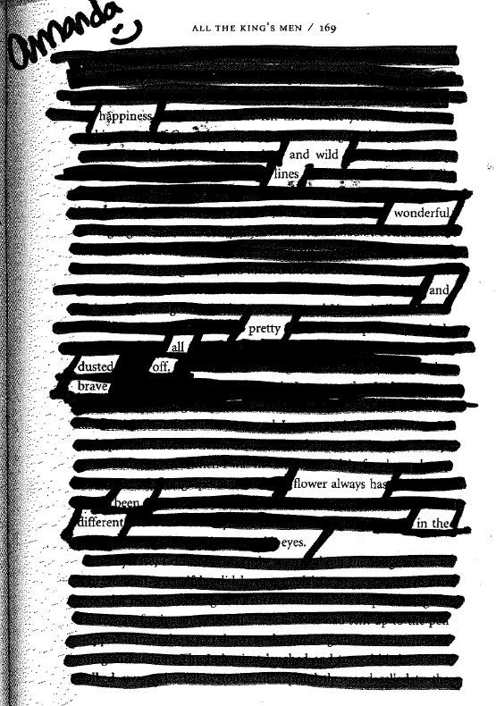 Students Can Create Blackout Poetry To Demonstrate Against