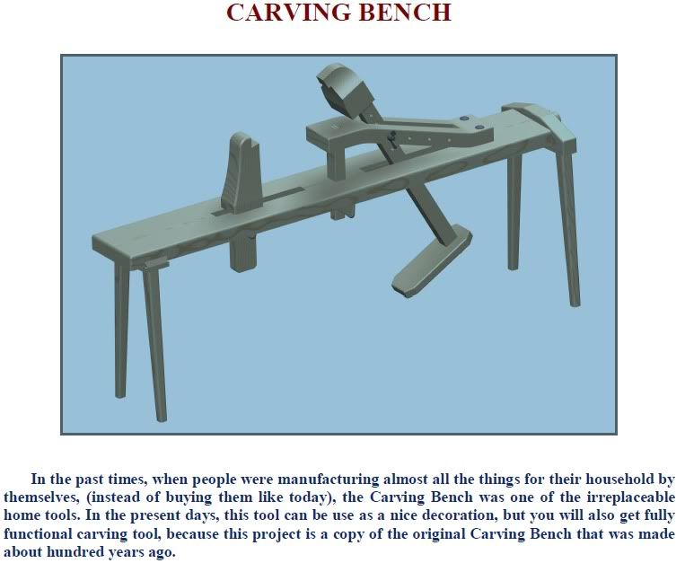 Plans for a wood carvers bench shavings horse