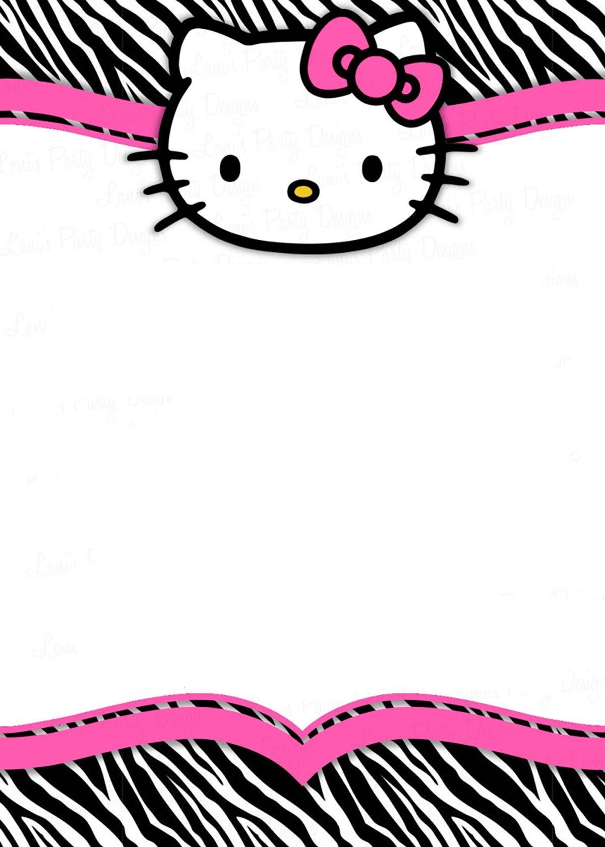 Hello Kitty Free Printable Invitation Card