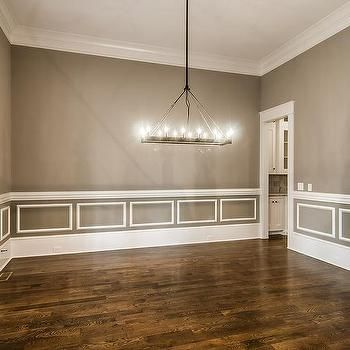 Gray Dining Room With White Wainscoting  Dining Room  Pinterest New Chair Rails In Dining Room Review