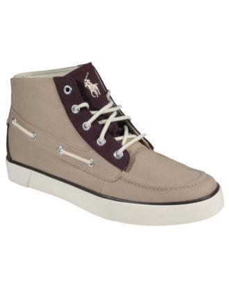 Polo Ralph Lauren Shoes, Lander Canvas Chukka Boots - Mens Fashion Sneakers  - Macy\u0027s