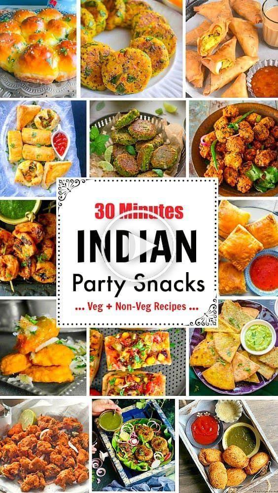 30 Minuten indische Partei Snacks: Samosa, Curry puff, Paneer Pizza, aloo Tikka, aloo bonda, Huhn Pakora: #indianfood #pakora #chaat #samosa #indiansnacks #currypuff #paneer #indianpizza #alootikki #snackideen #gesundesnacks