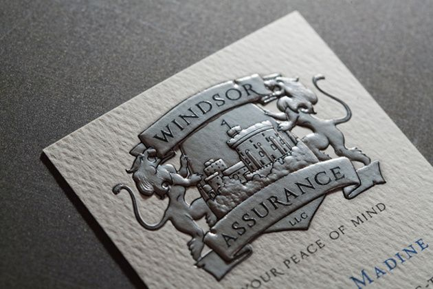 Embossed + Foil stamped business card = awesomeness. | Random ...