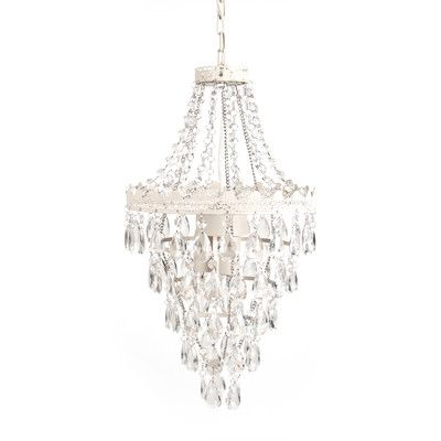 Youll love the caden 1 light crystal chandelier at wayfair great deals on