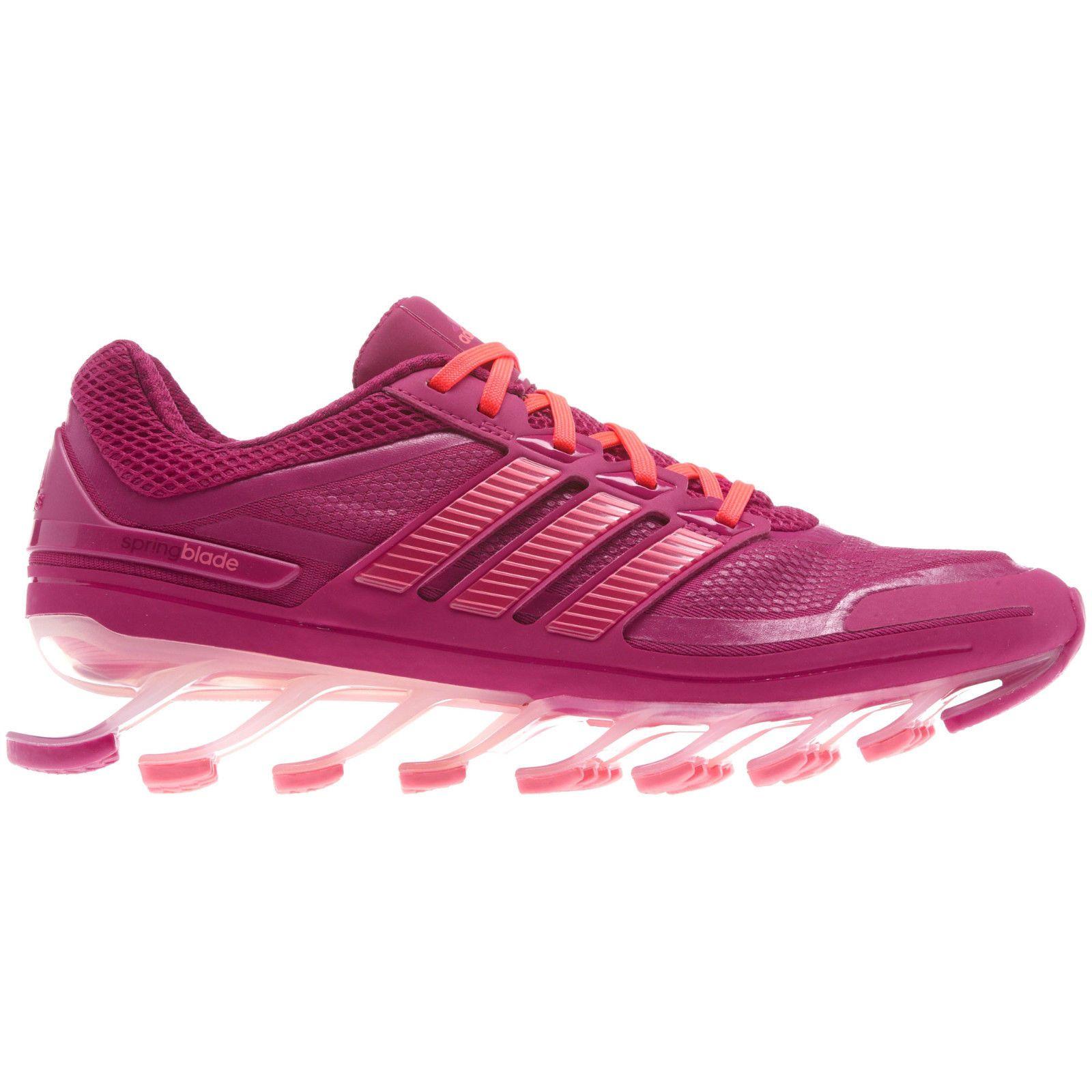 nuove donne springblade scarpe adidas magenta / rosa caldo dimensioni 6