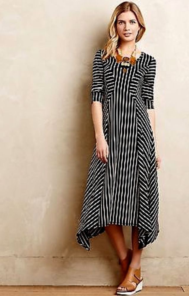 9696606f7e NEW Anthropologie Saturday Sunday black Swingy Stripe Midi Maxi Dress M   138  SaturdaySunday  maxiswingdress  versatile