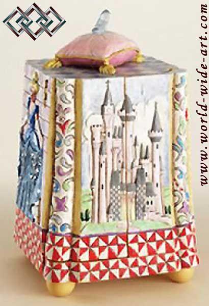 jim shore cinderella | Jim Shore - Cinderella - Glass Slipper Box Figurine - Treasures Fit ...