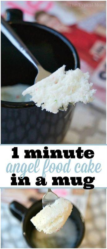 Easy angel food cake in a mug recipe that takes just 1 minute and easy angel food cake in a mug recipe that takes just 1 minute and its done forumfinder Gallery