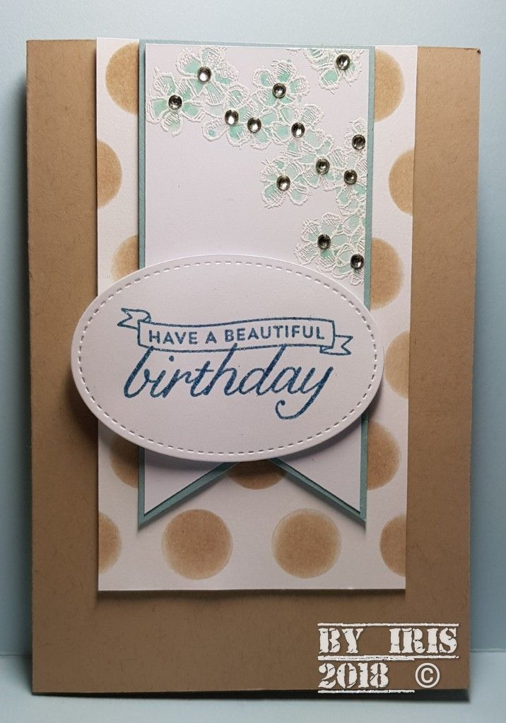Stampin Up Birthday Blossoms By Iris Masculine Cards Pinterest