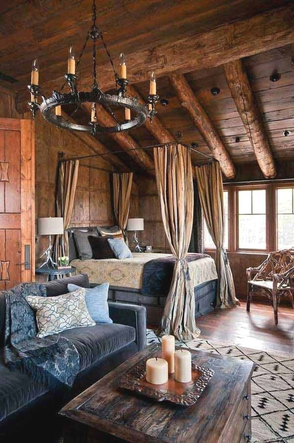 22 inspirierende rustikale SchlafzimmerDesigns für diesen Winter