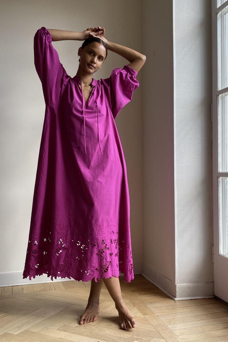 6 Eco Friendly Summer Fabrics For A Feel Good Look Cotton Kaftan House Dress Fashion [ 1152 x 768 Pixel ]