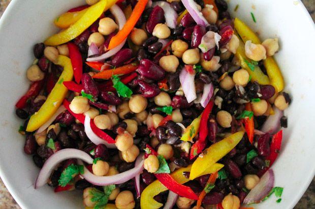 Clean Three Bean Salad Yummy Salad Recipes Bean Salad Healthy Recipes