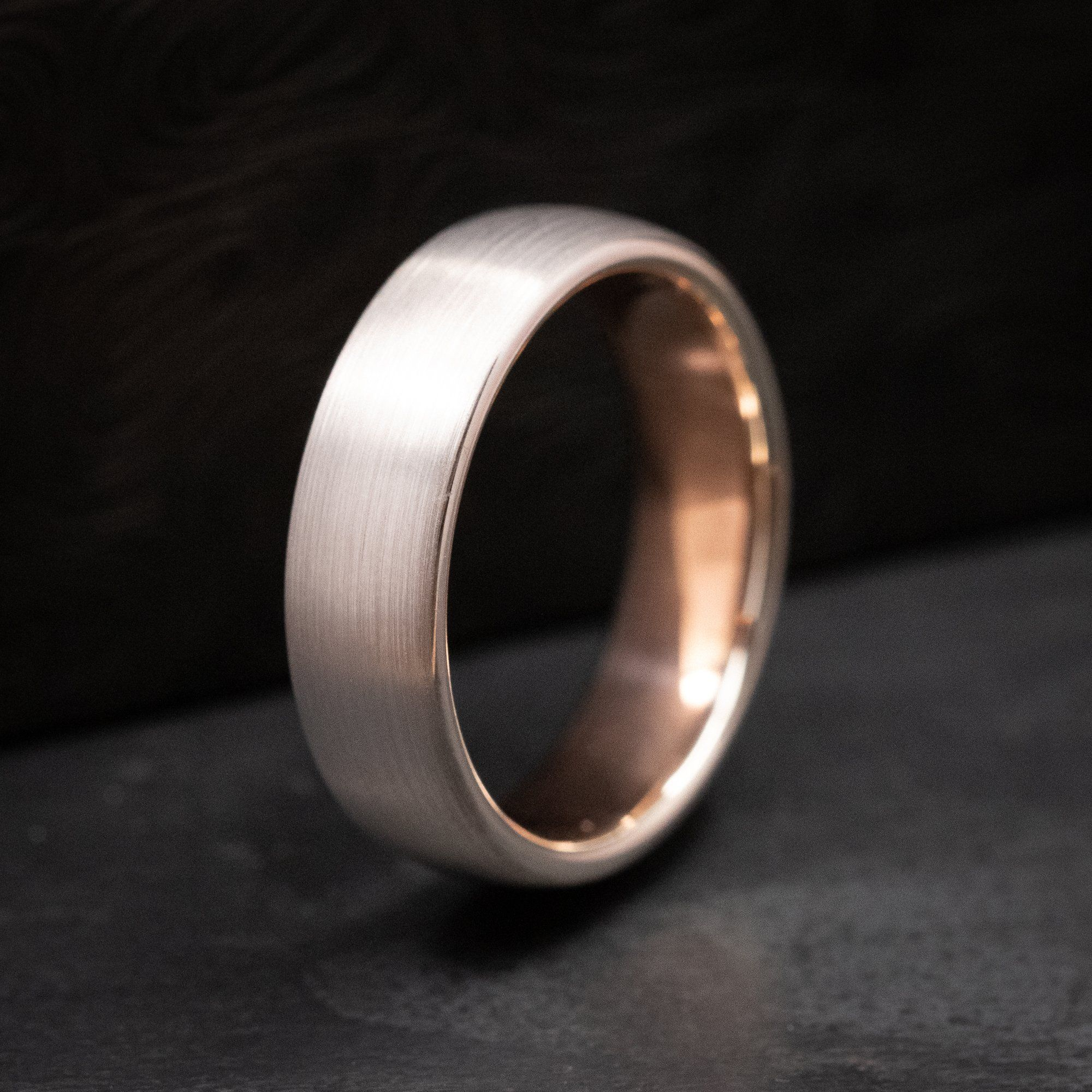 10k White Gold From The Vault Pre Made Ring With 10k Rose Gold Sleeve Size 8 25 White Gold Rings Revolution Jewelry