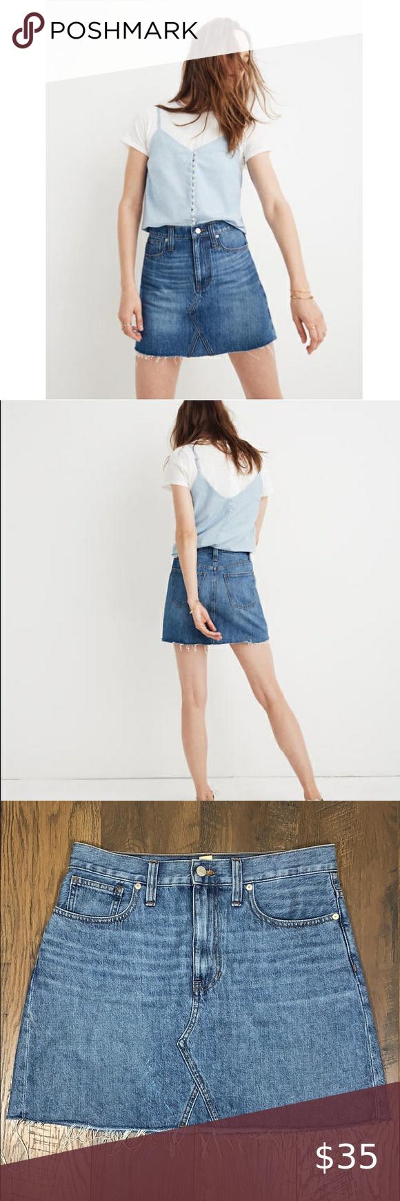 Mini skirts size 33 Madewell Rigid Denim A Line Mini Skirt A Line Mini Skirt Mini Skirts Skirts