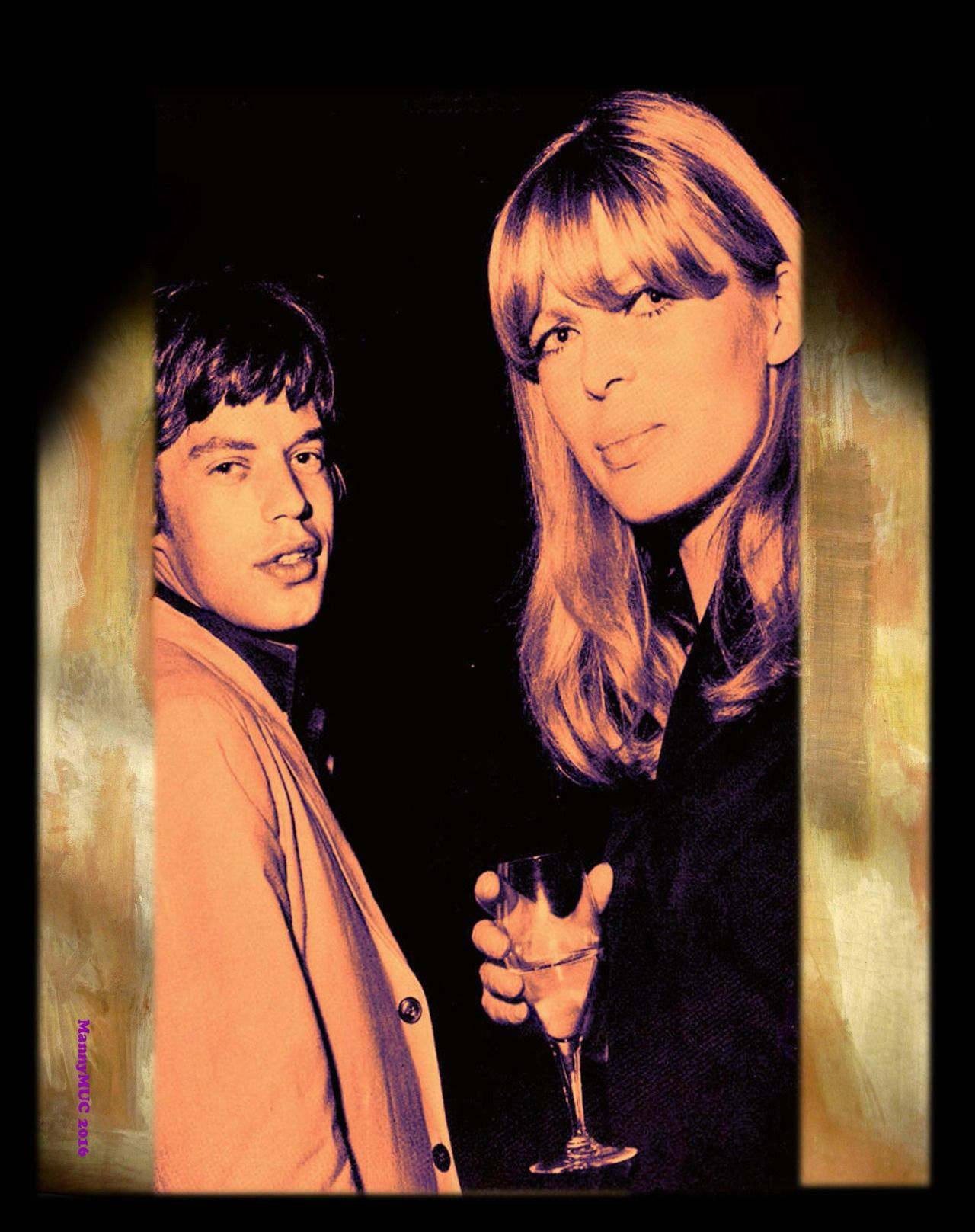 Nico with Mick Jagger in the 1960s