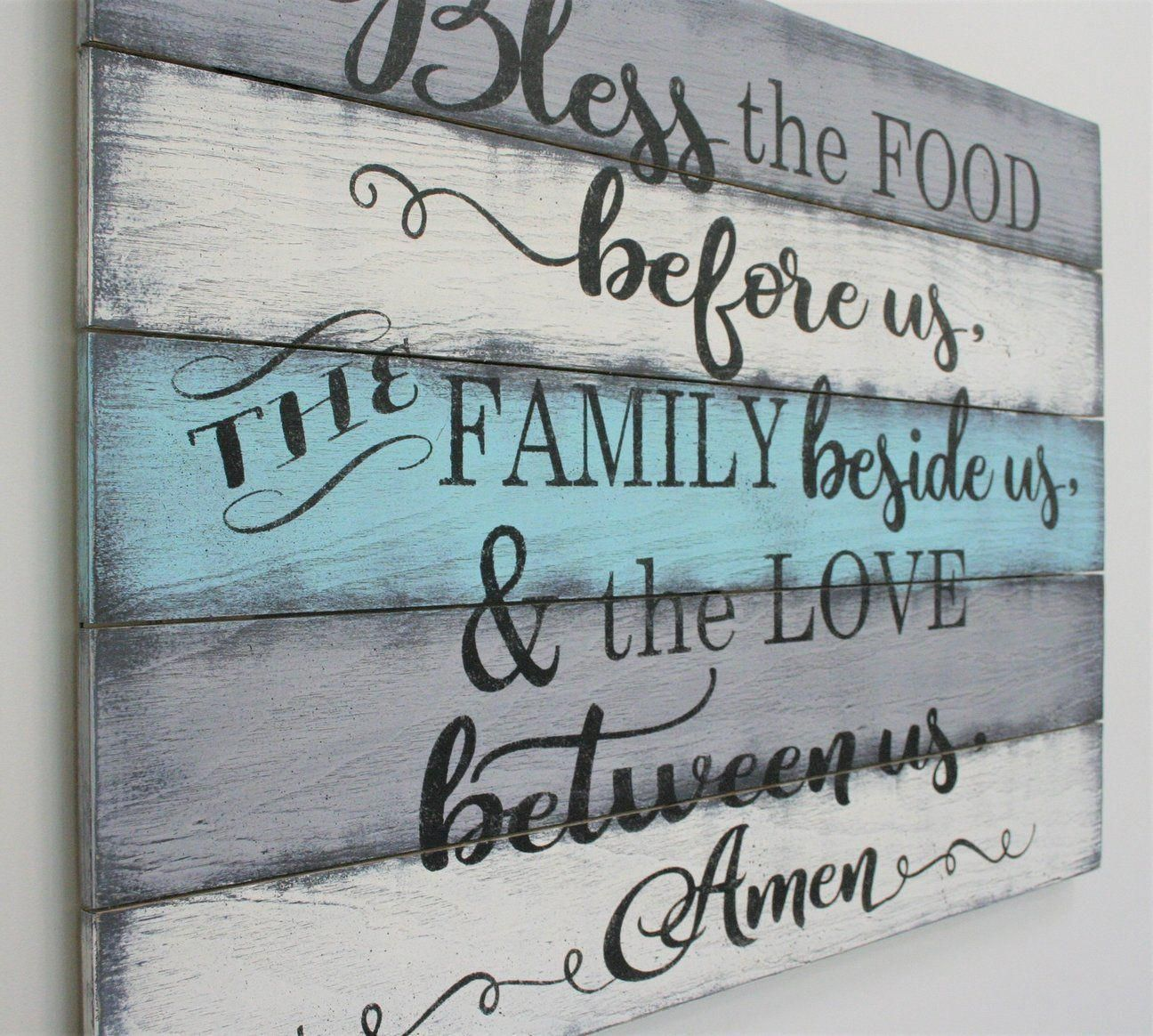 Bless The Food Before Us Kitchen Dining Room Wall Decor images