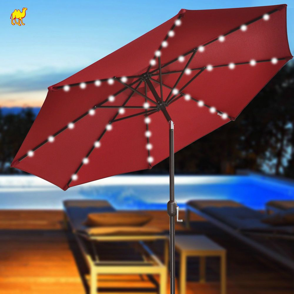 Solar Lights For Patio Umbrellas Glamorous Brand New 9' Solar 40 Led Lights Patio Umbrella Garden Outdoor Review