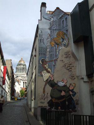 Comic art on the street