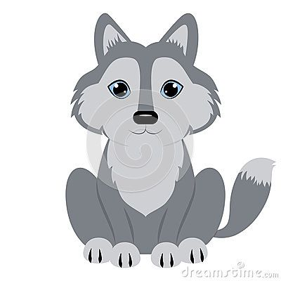 Wolf cartoon. Love the baby animals