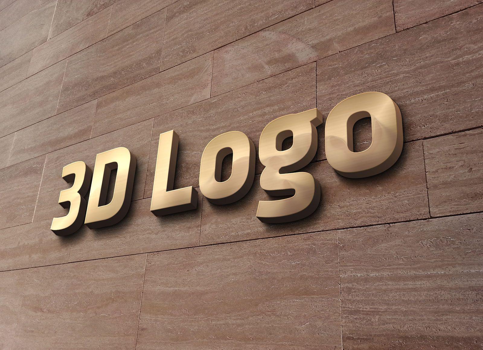Free 3D Office Wall Sign Logo Mockup PSD в 2020 г