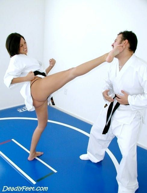 Naked girl karate kick porn in most relevant