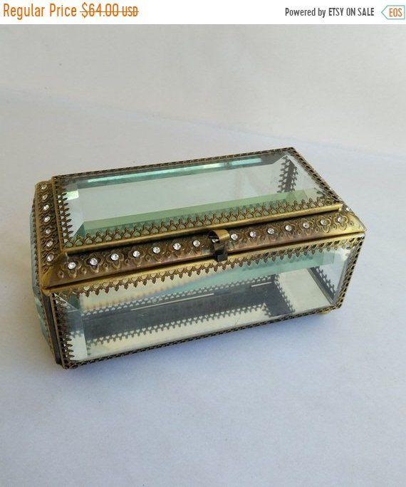 Nicole Miller Jewelry Box Mesmerizing Nicole Miller Jewelry Casket Rhinestone Mirror Beveled Glass Jewelry