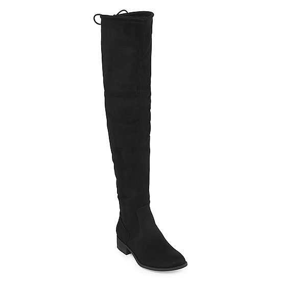 04a26fd52942 Arizona Womens Palmer Over the Knee Block Heel Pull-on Boots - JCPenney