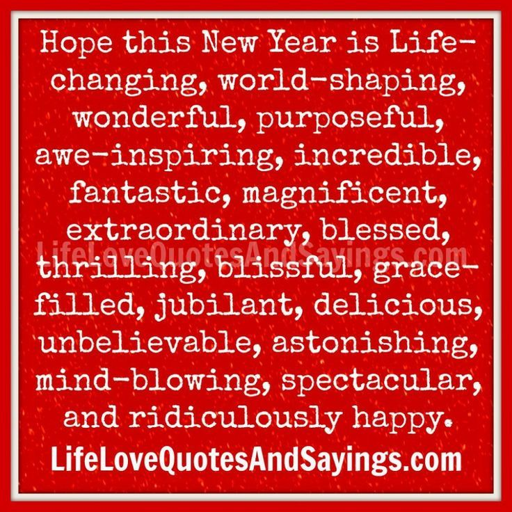 Awesome New Years Quotes Hope This New Year My Life Get Better A