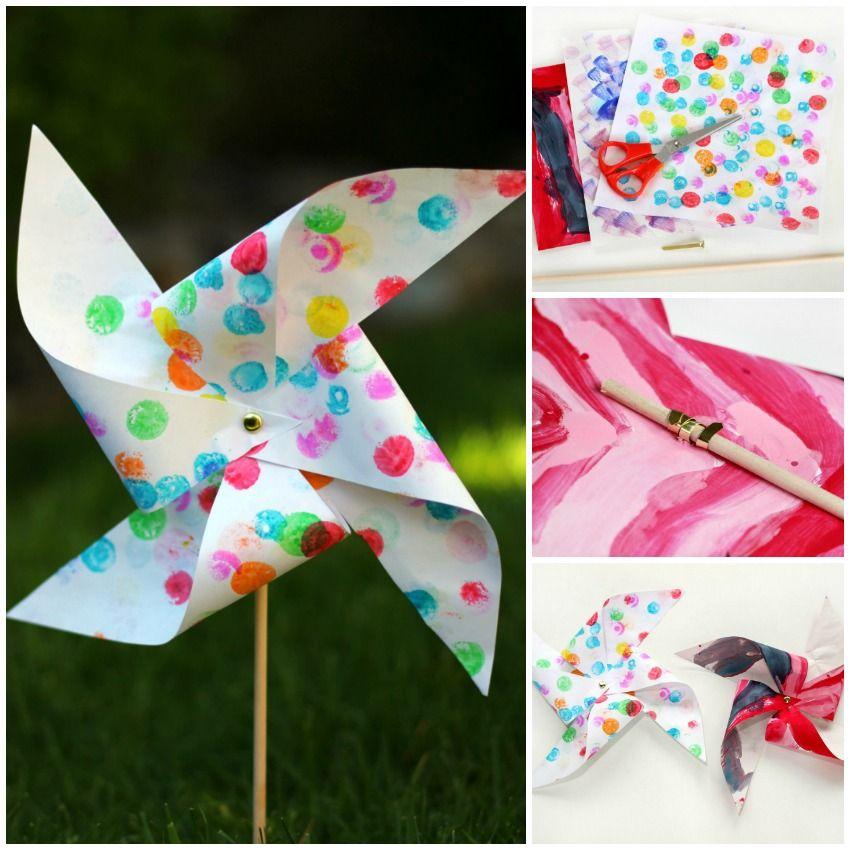 Garden Pinwheel Craft For Kids From Recycled Artwork Pinwheel