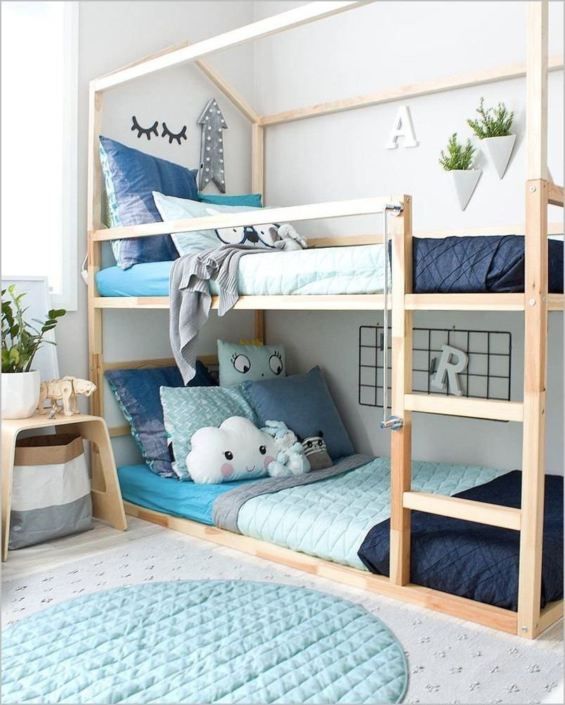 Idee Deco Chambre Fille Avec Lit Superpose In 2020 Kids Bunk