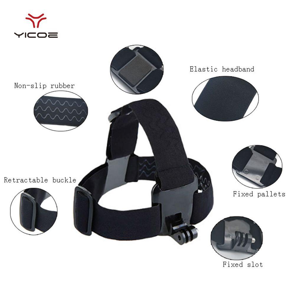 GoPro Session Accessories Elastic Mount Belt Adjustable Head Strap for Gopro Hero 5/4/3 SJ4000 Xiaomi Yi 4k Sony Action Camera