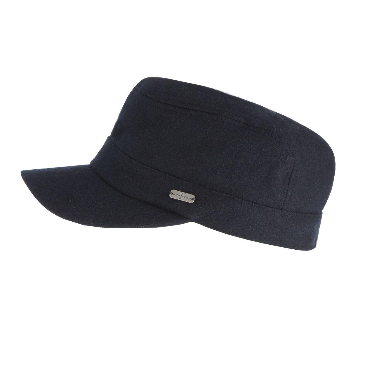 02183afc2cb J by Jasper Conran Designer navy melton train driver hat- at Debenhams.com