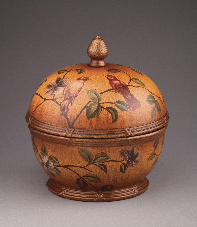 Bird Design Ceramic Box with Lid