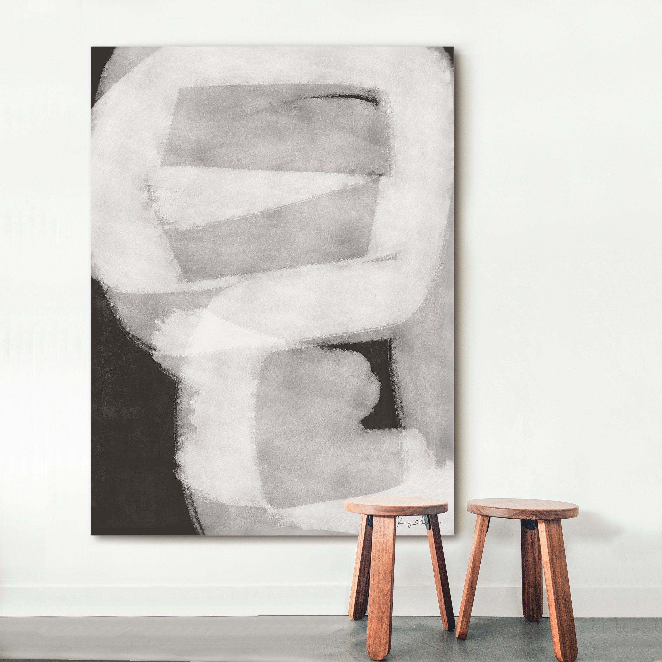 Black White Painting Abstract Gray Art Print Digital Print Etsy Grey Art Print Black And White Painting Grey Art