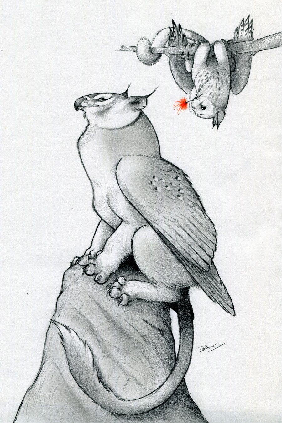 Owl Griffin Valentine By Robthedoodler On Deviantart Animal Drawings Animal Art Creature Art