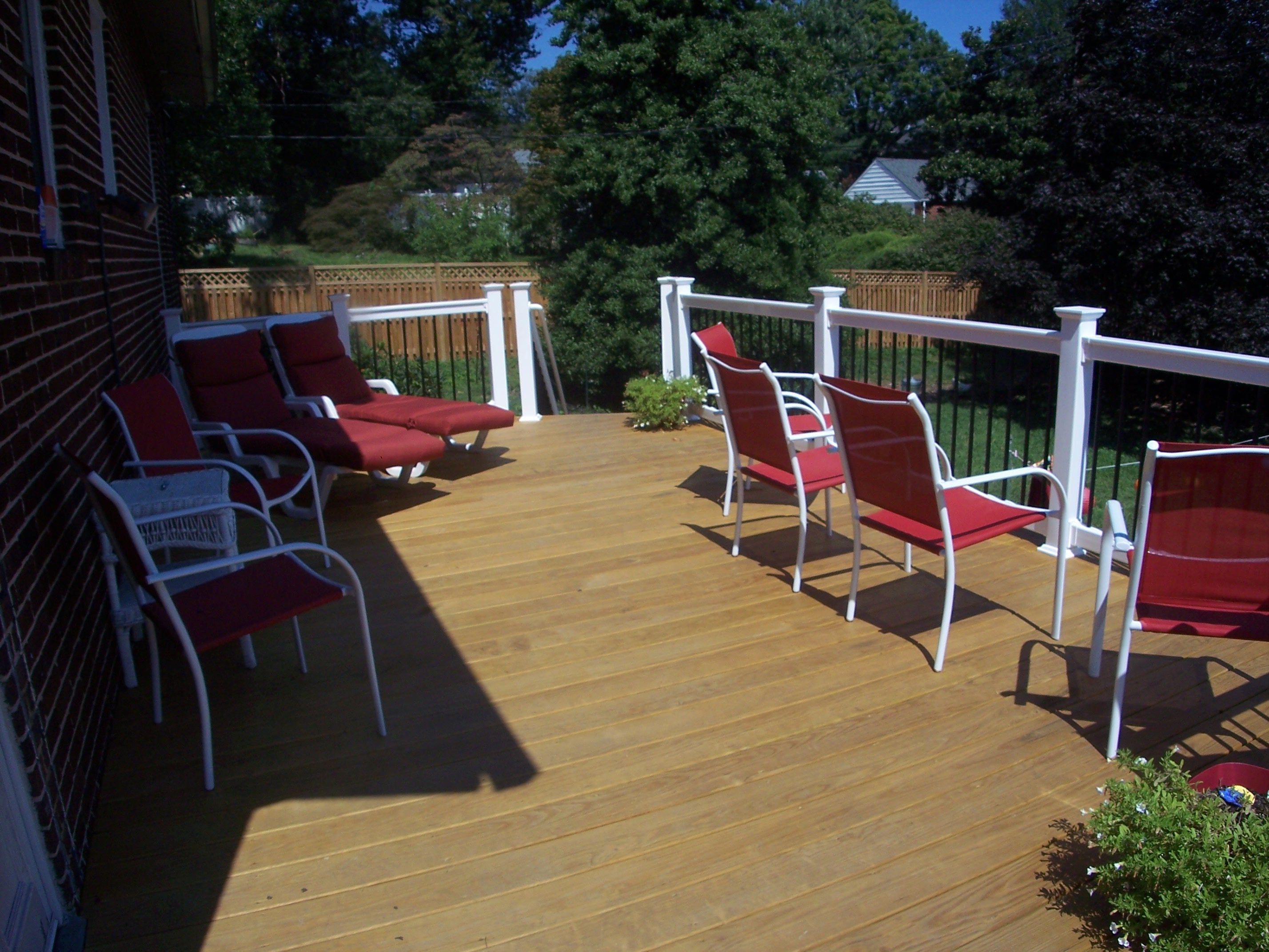 Baltimore Md Pressure Treated Wood With Vinyl Railings
