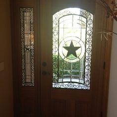 Perfect Rod Iron U0026 Texas Star Front Door.