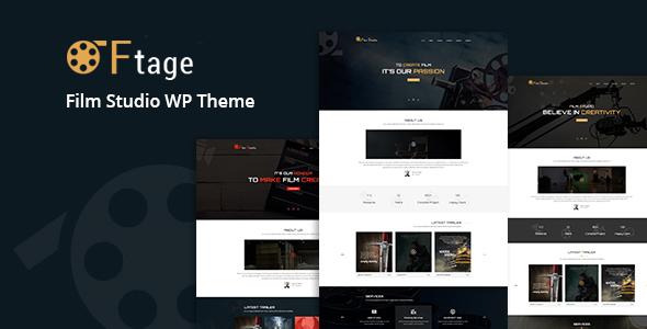 Ftage - Movie Film Marketing WordPress Theme | Movie film, Wordpress ...