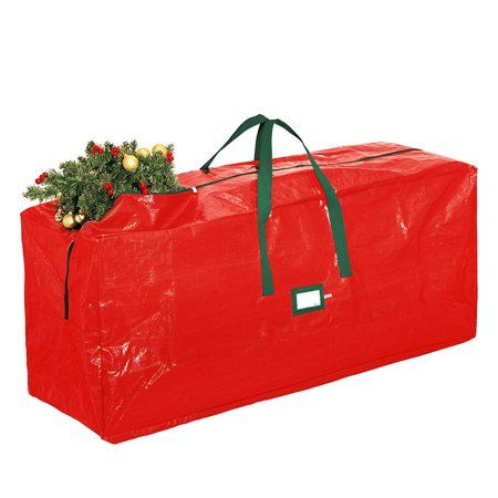 cc0e6cf81b Zober Large Christmas Tree Bag 48 x 20 x 15. For Un-Assembled Trees up to  7' Tall with Sleek Zipper Red