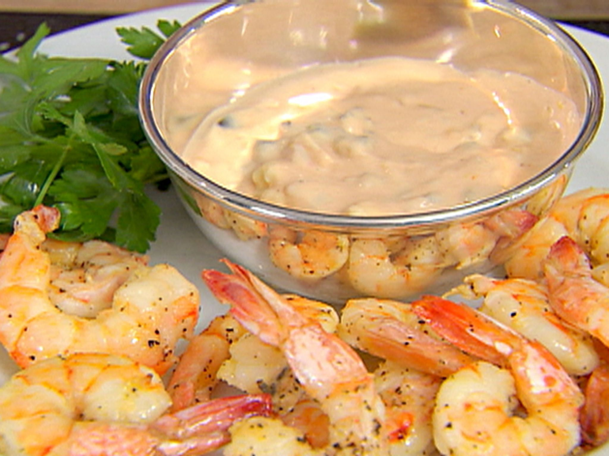Roasted Shrimp With Thousand Island Dressing Recipe Food Network Recipes Roasted Shrimp Homemade Thousand Island Dressing